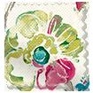 Floral Ink Linen Punch Roman Blind sample image