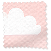 Fluffy Clouds Pink Roman Blind swatch image