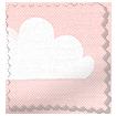 Fluffy Clouds Blackout Pink Roller Blind slat image