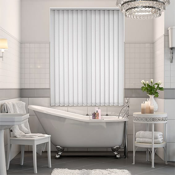 Flurry Snow White Vertical Blind