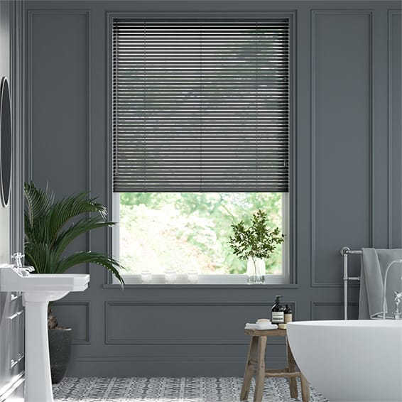 Form Brushed Onyx Venetian Blind - 25mm Slat
