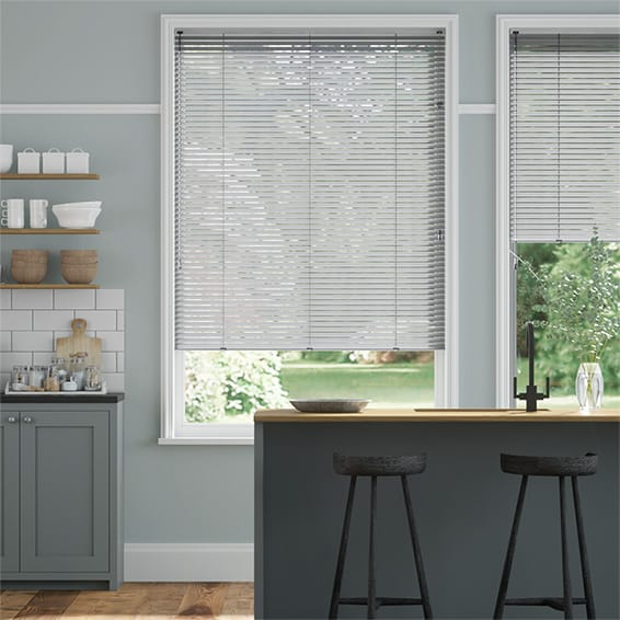 Form Brushed Silver Venetian Blind - 25mm Slat
