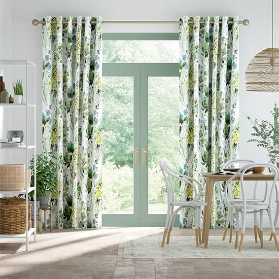 Foxglove Evergreen Curtains