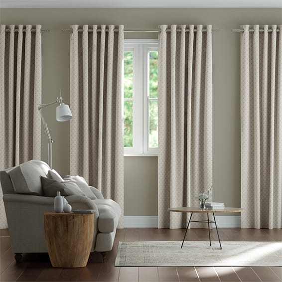 Fretwork Linen Curtains