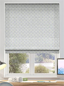 Fretwork Silver Roman Blind thumbnail image