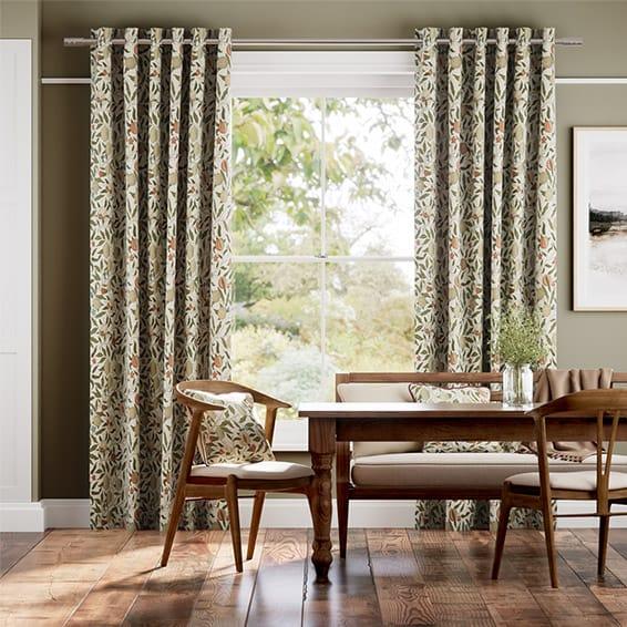 William Morris Fruit Autumn Curtains