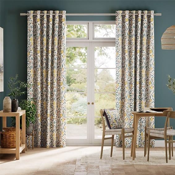 William Morris Fruit Citrus Curtains
