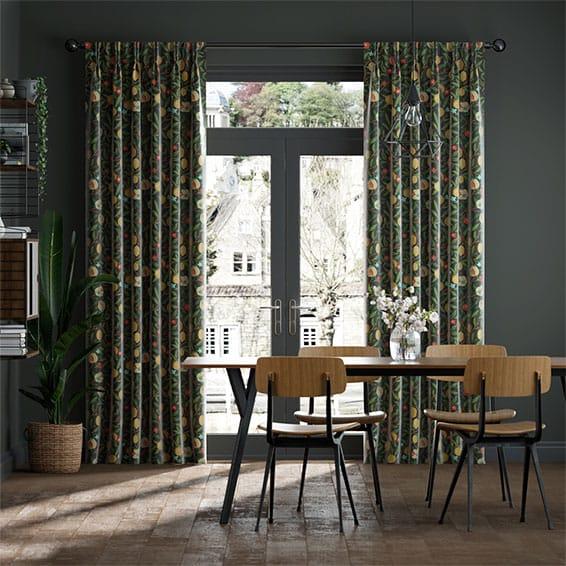 William Morris Fruit Ebony Curtains