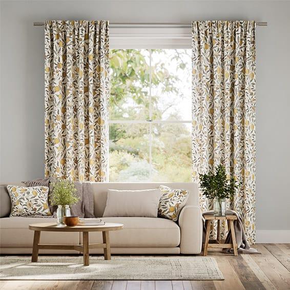 William Morris Fruit Primrose Curtains