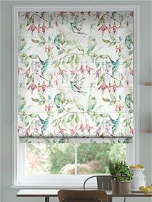 Fuchsia Flight Cream Roman Blind thumbnail image