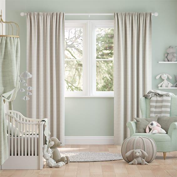 Fustian Oatmeal Curtains