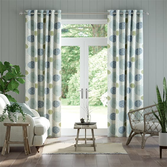 Gardenia Inky Blue Curtains