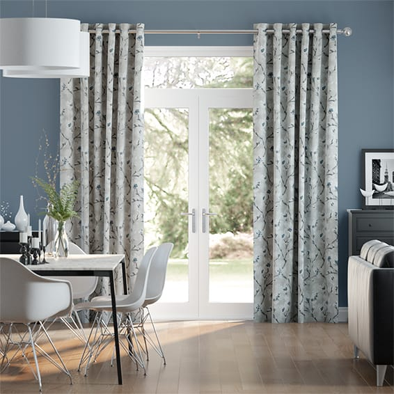 Giardino Italian Blue Curtains
