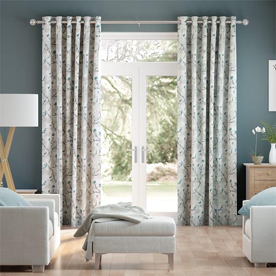 Giardino Teal Curtains