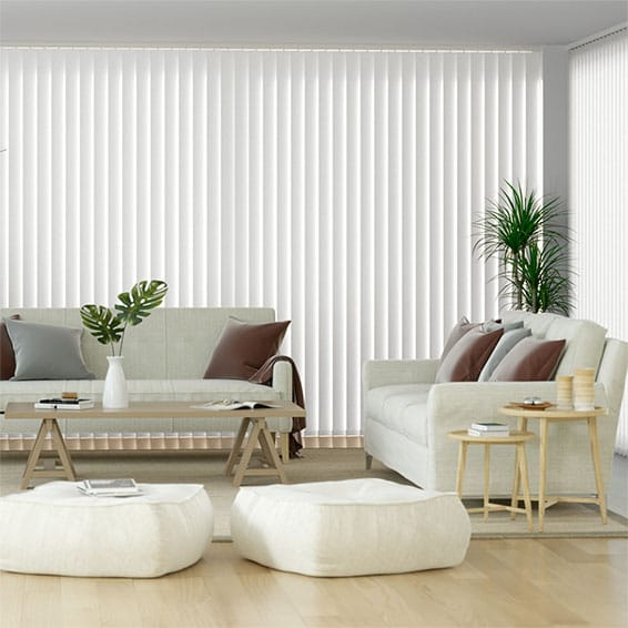 Valencia Simplicity White Vertical Blind