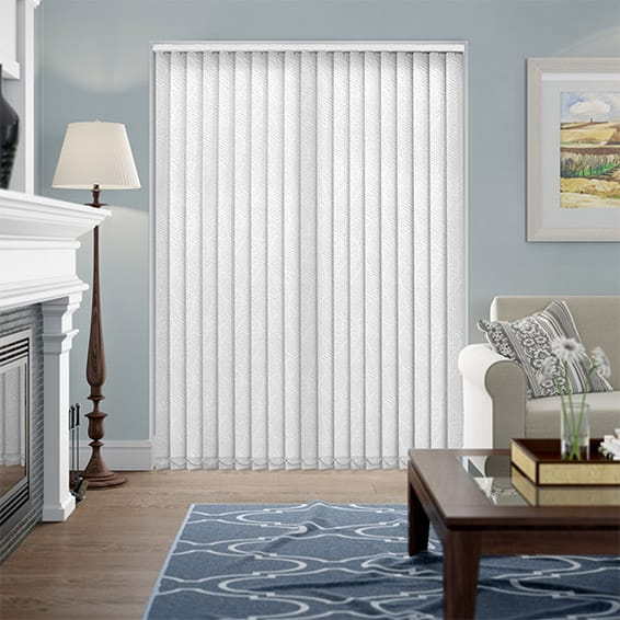 Madrid Geo White Vertical Blind