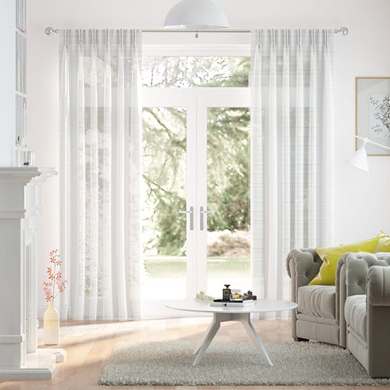 Glace Voile Ice White Curtains