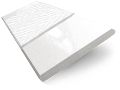 Gloss Ultra White & Linen Wooden Blind - 50mm Slat sample image