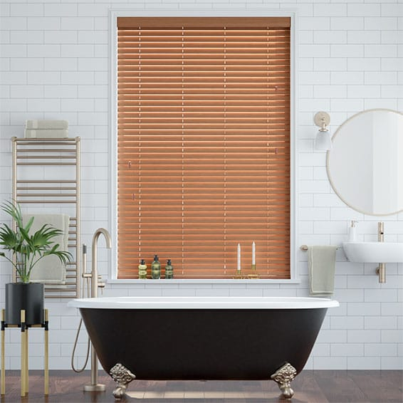Warm Oak Faux Wood Blind - 38mm Slat