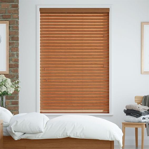 Warm Oak Faux Wood Blind - 50mm Slat