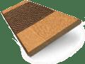 Golden Oak & Walnut Wooden Blind swatch image