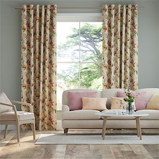 Gosford Cranberry Curtains thumbnail image