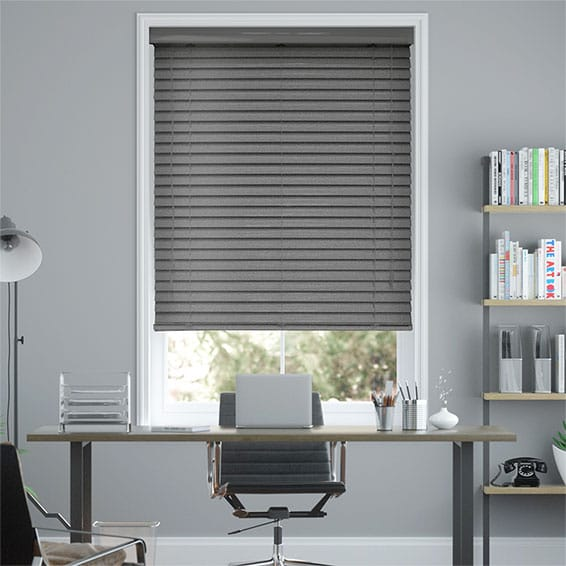 Grande Editions Gunmetal Grey Venetian Blind - 50mm Slat