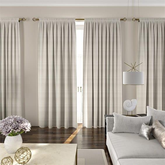 Grande Stripe Linen Curtains