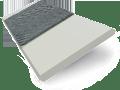 Grey Goose & Anthracite Faux Wood Blind - 50mm Slat slat image