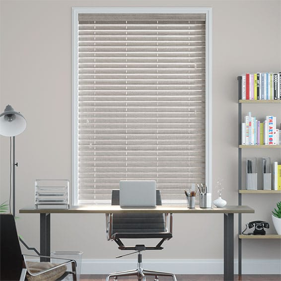 Grey Wash Faux Wood Blind - 50mm Slat