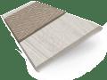 Grey Wash & Latte Faux Wood Blind - 50mm Slat sample image