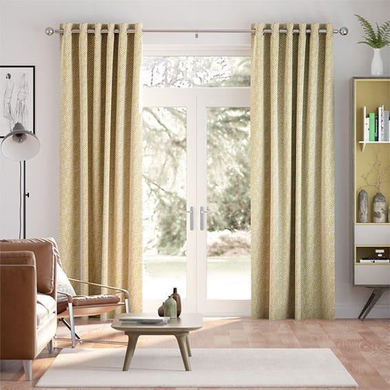 Guillemet Mustard Curtains