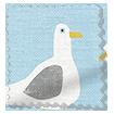 Gulls Blue Haze Roman Blind sample image