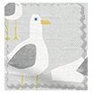 Gulls Storm Grey Roman Blind sample image