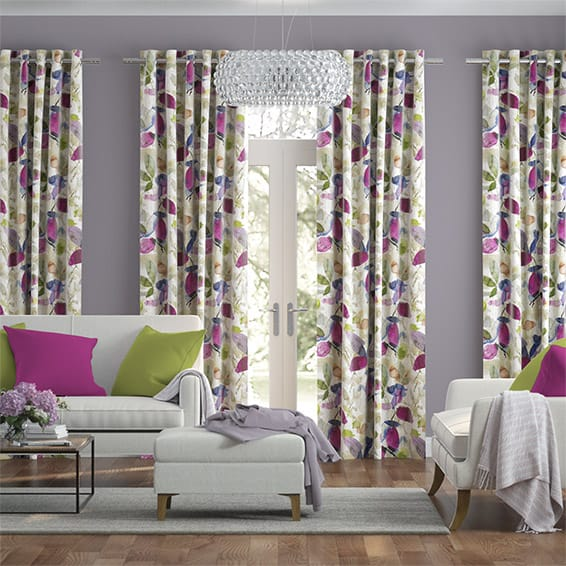 Hadley Linen Vintage Violet Curtains