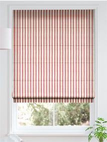 Hand Painted Stripe Rose Pink Roman Blind thumbnail image