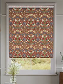 William Morris Strawberry Thief Harissa Red Roller Blind thumbnail image