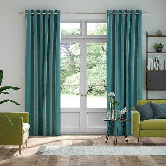 Harrow Caribbean Blue Curtains
