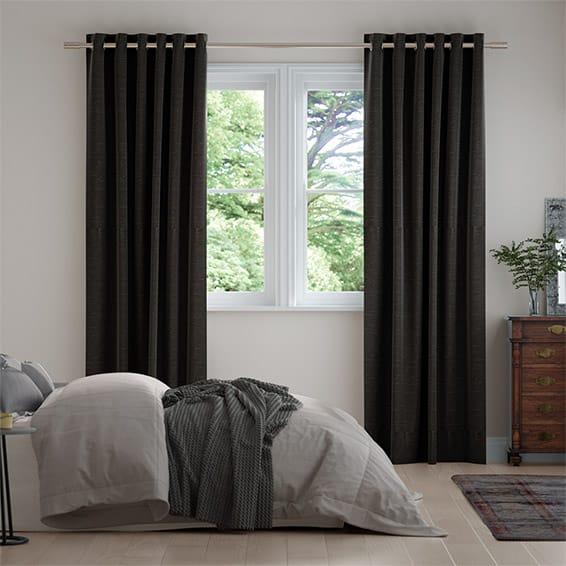 Harrow Charcoal Curtains