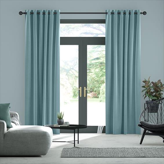 Harrow Lagoon Blue Curtains
