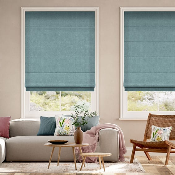 Harrow Lagoon Blue Roman Blind
