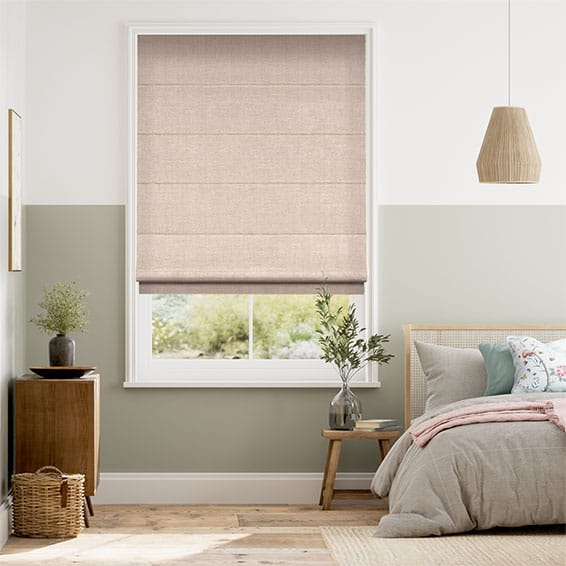 Harrow Warm Blush Roman Blind