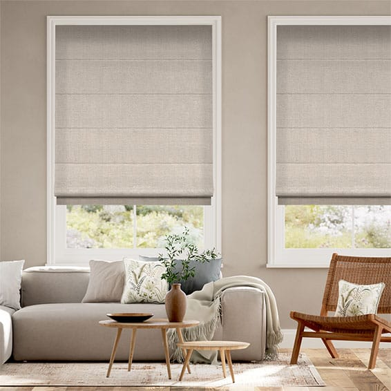 Harrow Warm Stone Roman Blind