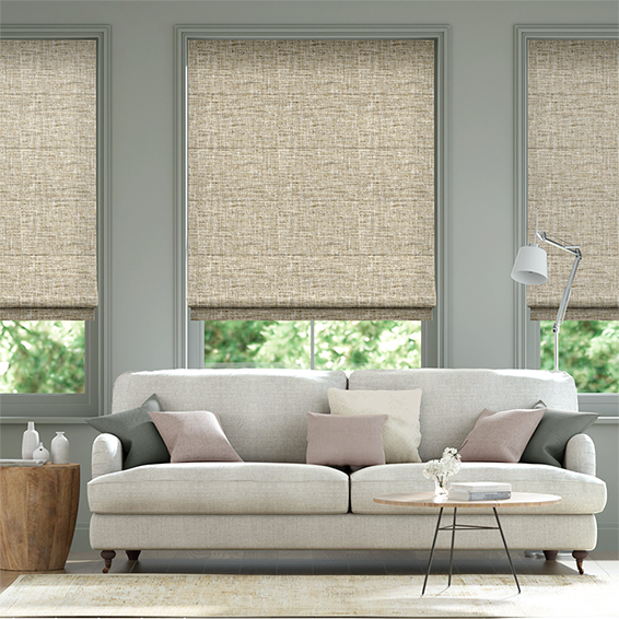 Haverford Oatmeal Roman Blind