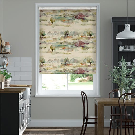 Heather Moors Blackout Linen Roller Blind