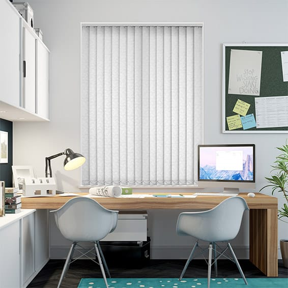 Helva White Vertical Blind