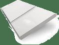 High Gloss Pure White & White Faux Wood Blind - 50mm Slat sample image