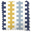 Hounds Tooth Beach Blue Roman Blind swatch image