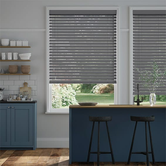 Husky Grey Wooden Blind - 50mm Slat