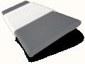 Husky Grey and White Chantilly Wooden Blind - 50mm Slat slat image